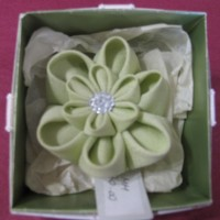Cloth Brooch - Green (Boxed)