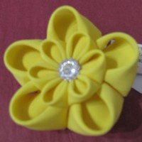 Cloth Brooch - Yellow