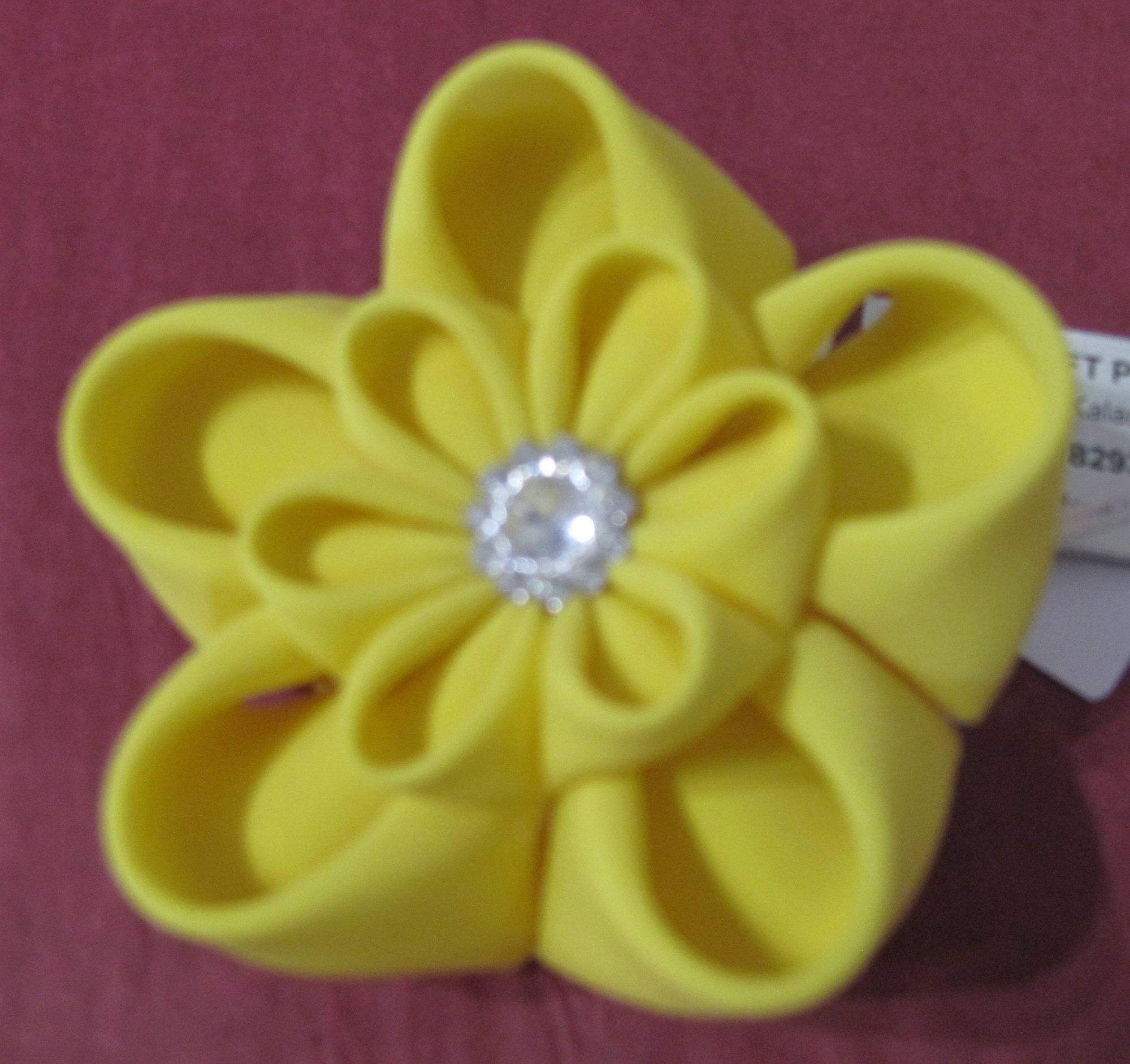 Cloth Brooch - Yellow