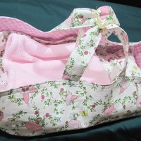 Doll's Carry Basket with Bedding - Pink
