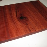 Jarrah Board Natural Edge - 430 (cut side) X 315 (natural side) X 20