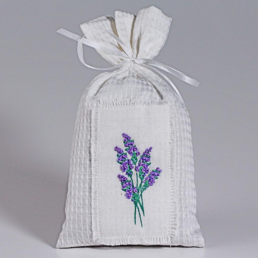 Lavender Embroidered Potpourri Sachet