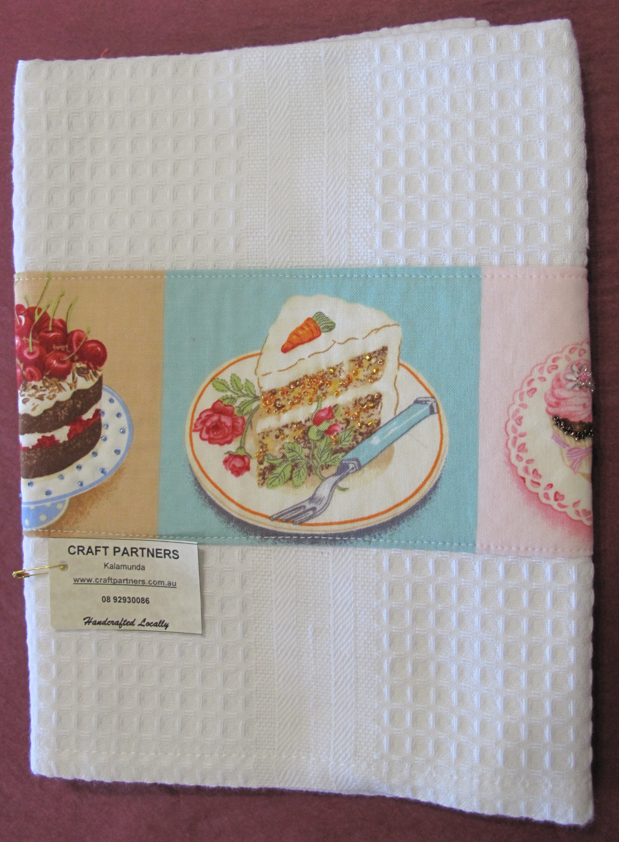 Tea Towel with cake slices