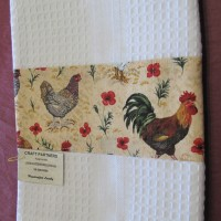 Tea Towel with chooks