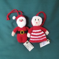 Christmas Tree Decorations - Santa and Mrs