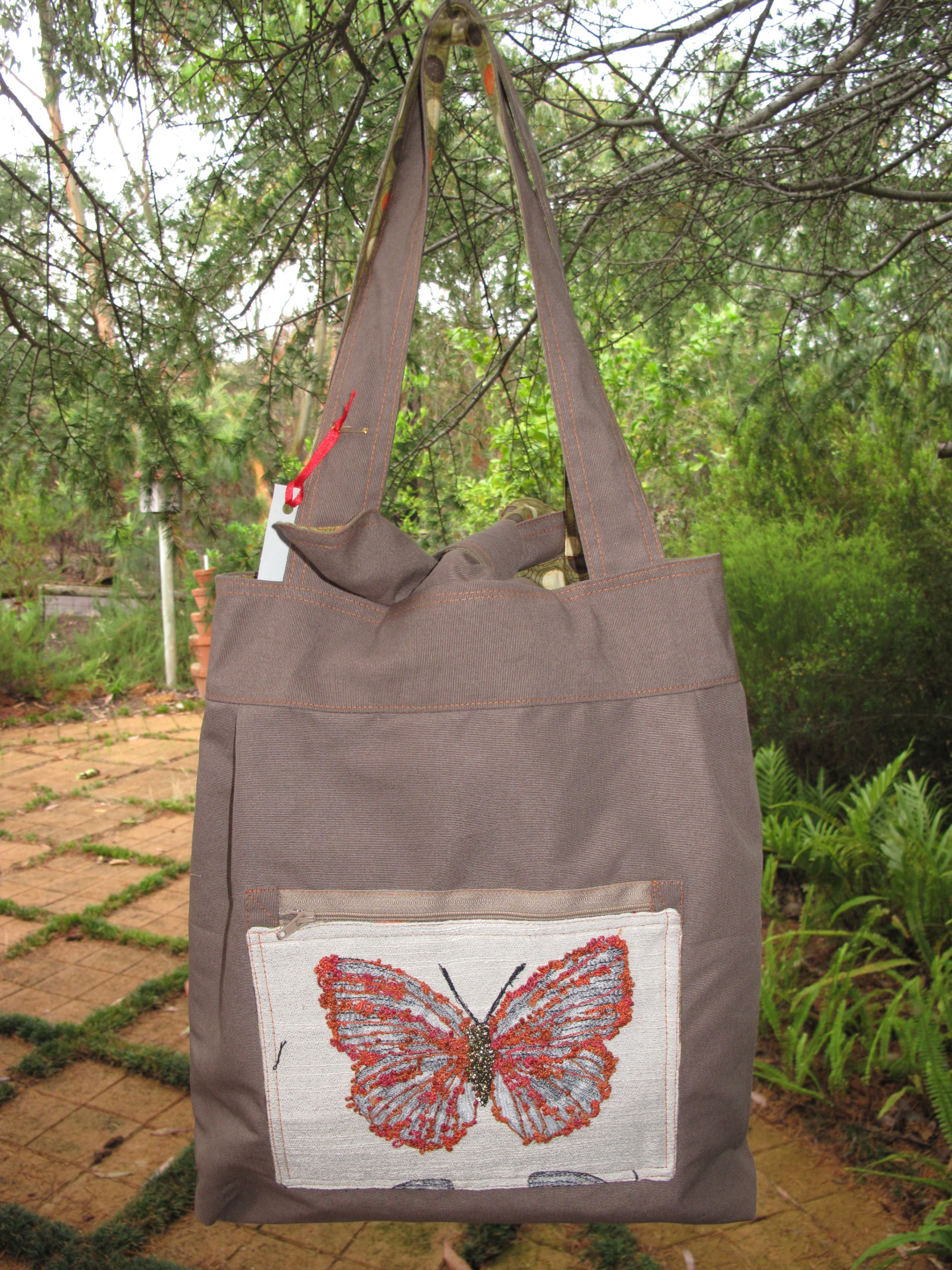 Reversible Material Bag - Butterfly 2