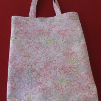 Library Bags 280 W X 350 D Pink Floral