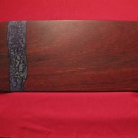 Jarrah Board with purple-silver resin 445X 195mm