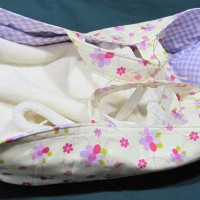Doll's Carry Basket with Bedding - Purple