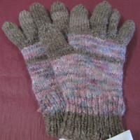 Knitted coloured gloves