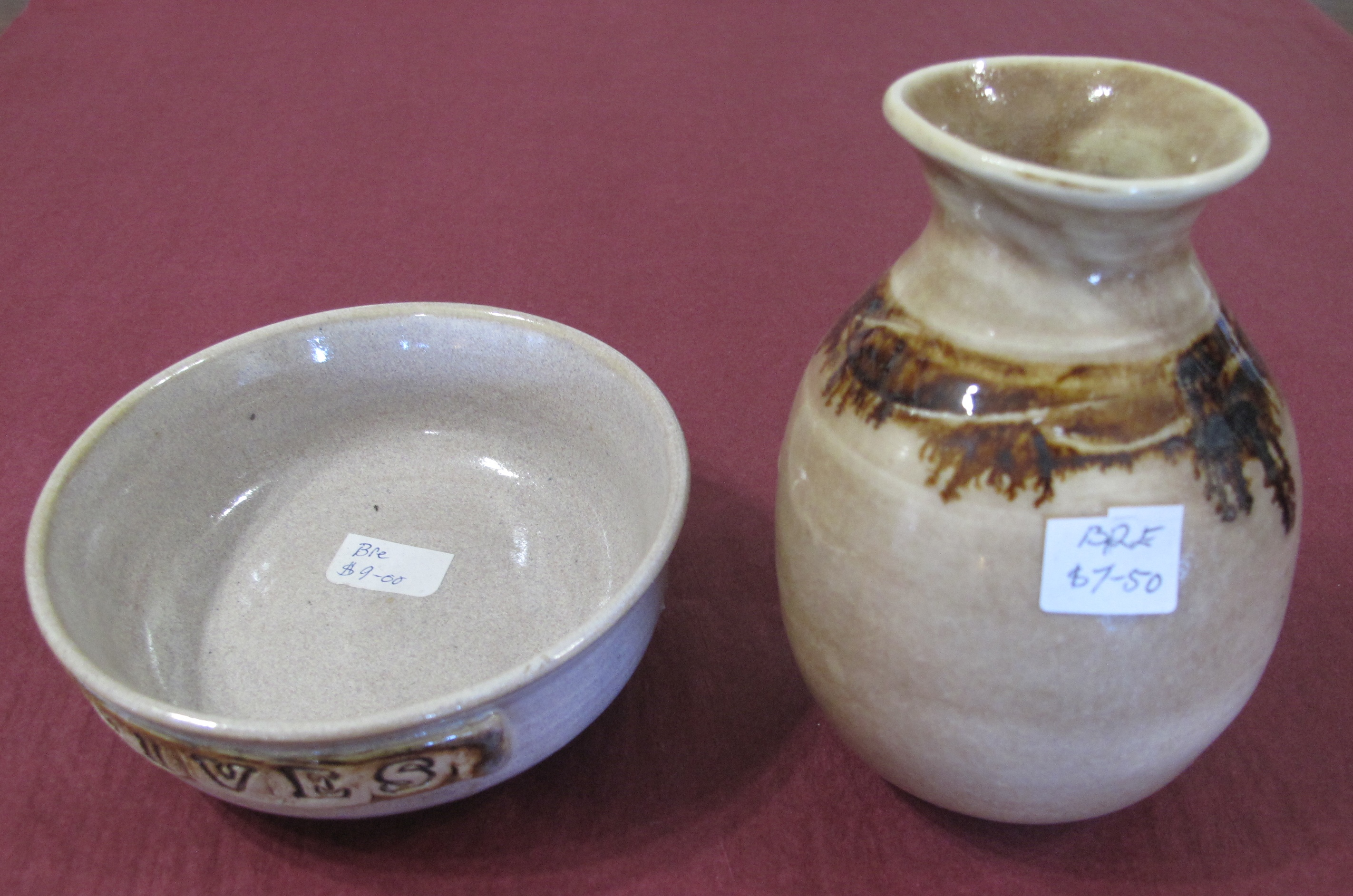 Pottery Bowl and Vase
