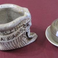 Pottery Tea Bag Holder and Jug