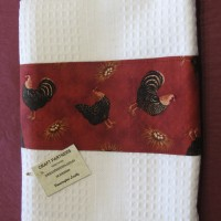 Tea Towel with chooks 2
