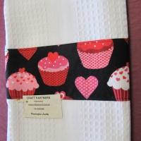 Tea Towel with cupcakes
