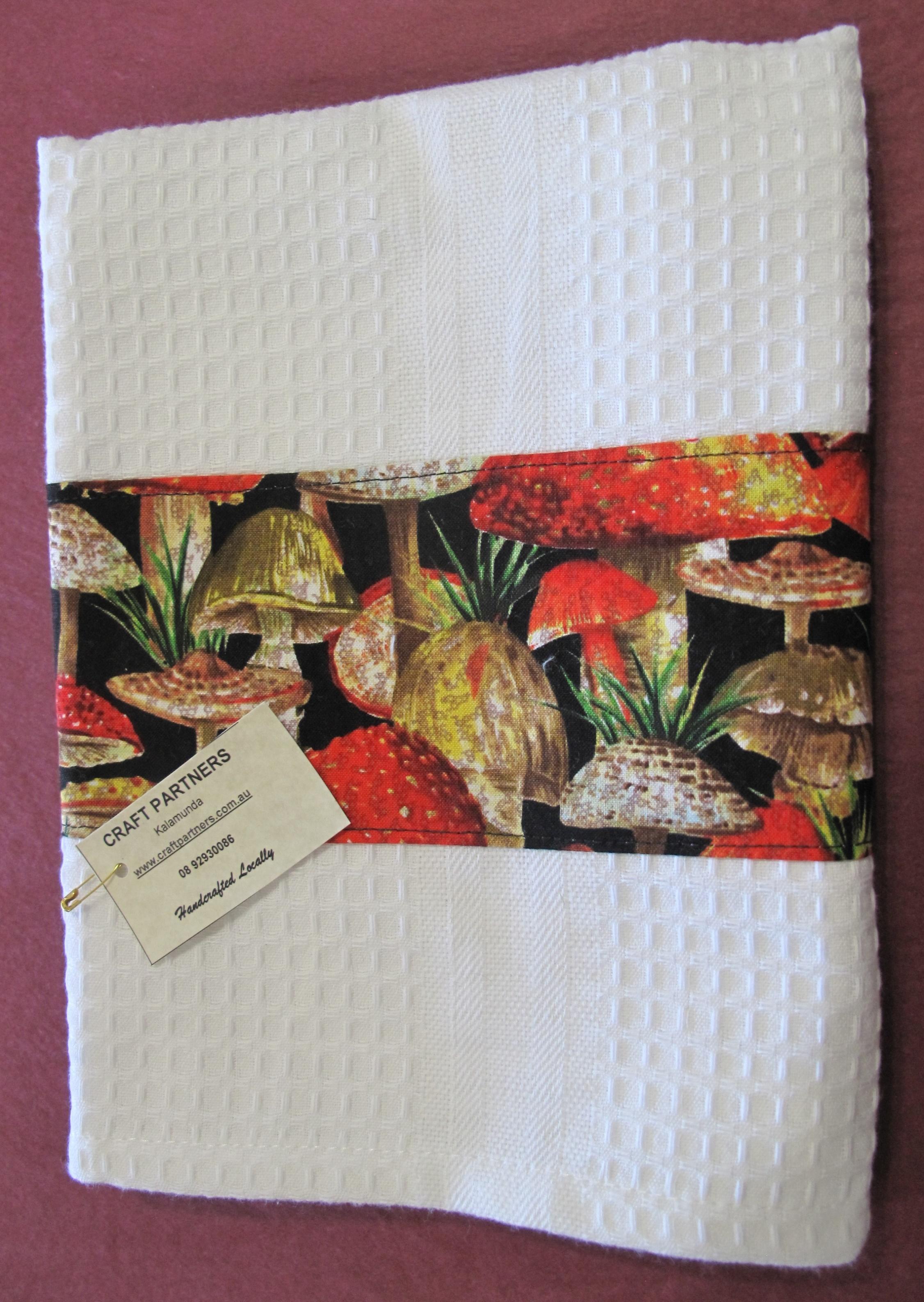 Tea Towel with mushrooms