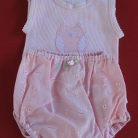 Baby Singlet and Pants Pink Kitten