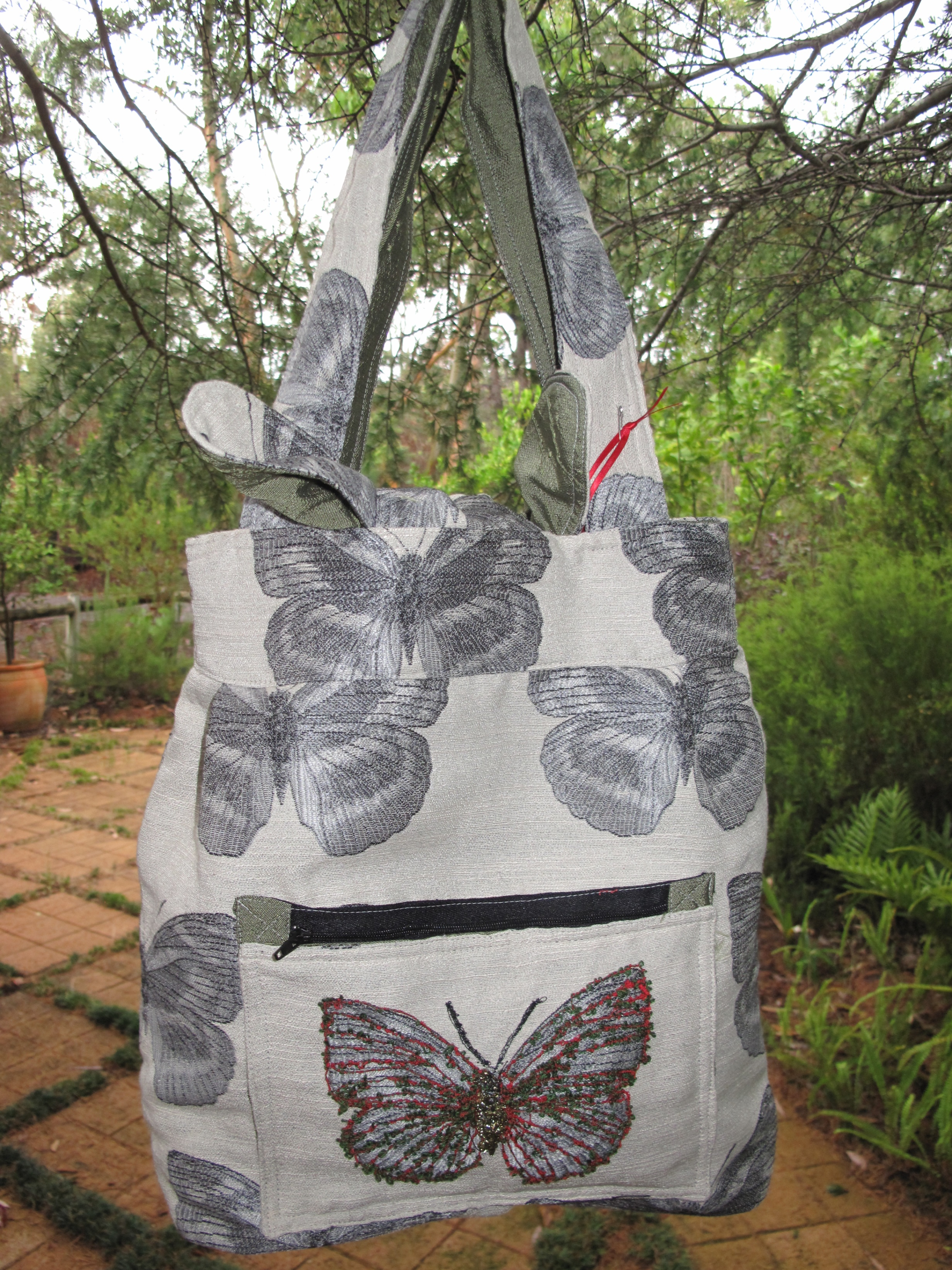 Reversible Material Bag - Butterfly