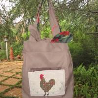 Reversible Material Bag - Rooster