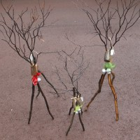 Reindeers - uniquely locally crafted from bush wood