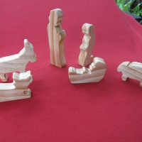 Wooden Nativity Setting 19mm