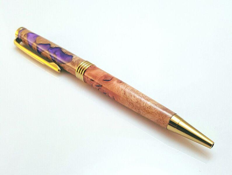 Jarrah Burl with Purple Resin Pen