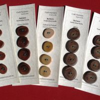 Buttons handcrafted from West Australian wood