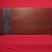Jarrah Board with purple-silver resin 445X 195mm
